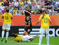 Shannon Boxx and Carli Lloyd during the FIFA Women's World Cup at the FIFA Stadium in Dresden, Germany on July 10th, 2011.