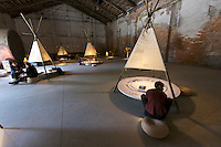 Venice, Italy - 15th Architecture Biennale 2016, &quot;Reporting from the Front&quot;.<br /> Arsenale.<br /> Chinese Pavillion.