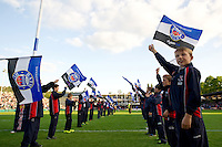 A general view of the Guard of Honour prior to the match. West Country Challenge Cup match, between Bath Rugby and Gloucester Rugby on September 26, 2015 at the Recreation Ground in Bath, England. Photo by: Patrick Khachfe / Onside Images