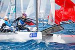 ISAF Sailing World Cup Hy&egrave;res - F&eacute;d&eacute;ration Fran&ccedil;aise de Voile. Nacra17, Moana Vaireaux<br /> Manon Audinet.