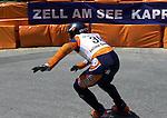 1. Inline Downhill Weltmeisterschaft, Zell am See (Austria) Sieger auf der Strecke: Oskar Galliazzo (Italy)