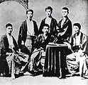 Undated - Kenyusha was a writers' society in Meiji era Japan, chiefly led by Ozaki Koyo. Its other members included Kawakami Bizan. (Photo by Kingendai Photo Library/AFLO)