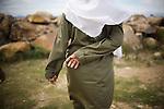 Sharia policewoman on patrol in Ulele, Indonesia, on Thursday, Nov. 11, 2009.