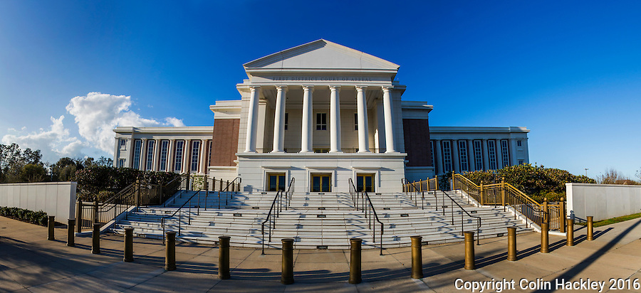 TALLAHASSEE, FLA. 3/13/16-The Florida First District Court of Appeals building. <br /> <br /> EDITOR'S NOTE: This image is comprised of multiple photos taken at the same moment and stitched together in photoshop to create a panorama.<br /> <br /> COLIN HACKLEY PHOTO