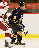John Dunbar (Quinnipiac - 24) - The visiting Quinnipiac University Bobcats defeated the Harvard University Crimson 3-1 on Wednesday, December 8, 2010, at Bright Hockey Center in Cambridge, Massachusetts.