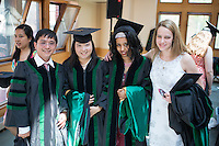 Tri Luu, Jenhy Nguyen, Makeda Semma, Elizabeth Strong. Class of 2012 commencement.