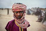 Boy in Red and White Scarf, The Sahel, Bamako, Mali, Africa, 1988, final print_milan<br />