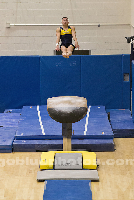 Men's Gymnastics Maize and Blue Intrasquad event at Cliff Keen Arena.