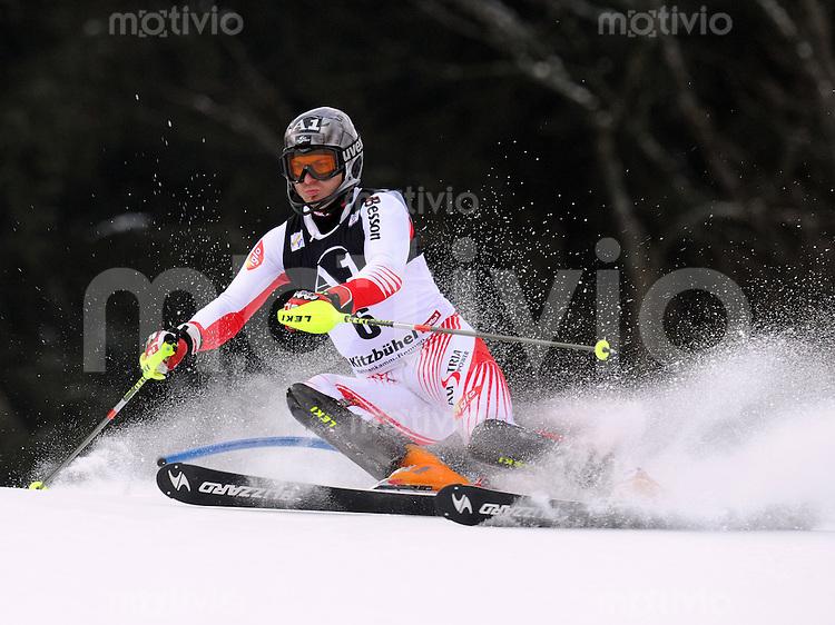 Ski Alpin;  Saison 2008/2009  25.01.2009 69. Hahnenkamm Rennen  Slalom Reinfried Herbst (AUT) FOTO : Pressefoto ULMER/Andreas Schaad