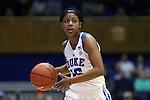 29 January 2017: Duke's Kyra Lambert. The Duke University Blue Devils hosted the Old Dominion University Monarchs at Cameron Indoor Stadium in Durham, North Carolina in a 2016-17 Division I Women's Basketball game. Duke won the game 71-43.