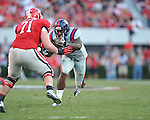 Ole Miss defensive end Cameron Whigham (55) vs. Georgia at Sanford Stadium in Athens, Ga. on Saturday, November 3, 2012.