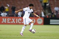 Marcelo controls the ball. Real Madrid defeated Club America 3-2 at Candlestick Park in San Francisco, California on August 4th, 2010.