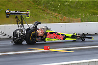 Jun 4, 2016; Epping , NH, USA; NHRA top fuel driver J.R. Todd during qualifying for the New England Nationals at New England Dragway. Mandatory Credit: Mark J. Rebilas-USA TODAY Sports