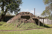 Concrete bunker in the now mostly destroyed Forbidden Purple City likely dating from the Battle of Hu?,1968  Hue Citadel / Imperial City, Hue, Vietnam