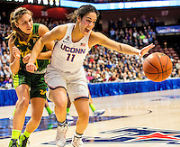 03-06-17 AAC Tournament.  UCONN up by 60 points in the fourth Kia Nurse [#11] still hustling as they defeat USF in a romp 100-44 in the finals of the AAC.