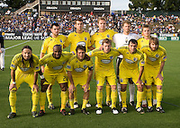 Columbus Crew Starting XI pose together for group photos before the game against the Earthquakes at Buck Shaw Stadium in Santa Clara, California on June 2nd, 2010.  San Jose Earthquakes tied Columbus Crew, 2-2.