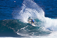 Margaret River, Western Australia.  (Tuesday, April 5, 2011). Mitch Crews (AUS). The Six Star Prime Telstra Drug Aware Pro continued  with the Round of 24 of the  Women's competition before commencing the Men's competition with eight heats of the Round of 96. The contest is the biggest surfing event ever held in Western Australia with 26 out of the Top 32 ranked surfers in the world competing.- Photo: joliphotos.com