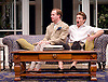 My Night with Reg <br /> by Kevin Elyot <br /> at the Apollo Theatre, London, Great Britain <br /> Press photocall<br /> 20th January 2015 <br /> <br /> Geoffrey Streatfeild as Daniel <br /> Julian Ovenden as John <br /> Photograph by Elliott Franks <br /> Image licensed to Elliott Franks Photography Services