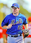 28 February 2011: New York Mets infielder Daniel Murphy warms up prior to a Spring Training game against the Washington Nationals at Digital Domain Park in Port St. Lucie, Florida. The Nationals defeated the Mets 9-3 in Grapefruit League action. Mandatory Credit: Ed Wolfstein Photo