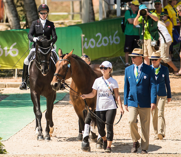 RIO DE JANEIRO - 13/9/2016:  Lauren Barwick, of Langley, BC, rides Onyx in the Team Test - Grade II event at the Olympic Equestrian Centre during the Rio 2016 Paralympic Games. (Photo by Dave Holland/Canadian Paralympic Committee).
