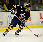 30 December 2007: Quinnipiac University Bobcats' defenseman Andrew Meyer, a Junior from St. Louis, Missouri, in action against the University of Vermont Catamounts at Gutterson Fieldhouse in Burlington, Vermont. The Bobcats defeated the Catamounts 4-1 to win the Sheraton/TD Banknorth Catamount Cup Tournament...Mandatory Photo Credit: Ed Wolfstein Photo