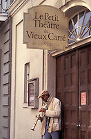 Le Petit Theatre du Vieux Carre, musician, French Quarter, New Orleans, Louisiana, USA