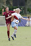 11 November 2007: Florida State's Erika Sutton (6) gets a leg up on North Carolina's Mandy Moraca (34) to win the ball. The University of North Carolina defeated Florida State University 1-0 at the Disney Wide World of Sports complex in Orlando, FL in the Atlantic Coast Conference Women's Soccer tournament final.