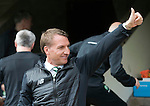 St Johnstone v Celtic&hellip;20.08.16..  McDiarmid Park  SPFL<br />Thumbs up from Brendan Rodgers<br />Picture by Graeme Hart.<br />Copyright Perthshire Picture Agency<br />Tel: 01738 623350  Mobile: 07990 594431