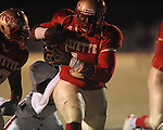 Lafayette High's Jeremy Liggins (1) scores vs. Louisville in MHSAA 4A playoff action at William L. Buford Field in Oxford, Miss. on Friday, November 18, 2011. Lafayette won 28-6 and will advance to play Amory.