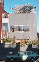 Frank Gehry: Spiller House, 39 Horizon Ave., Venice, CA. Elevation. Photo '86.