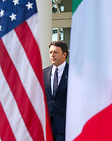 Prime Minister Matteo Renzi of Italy arrives to hold a joint press conference with United States President Barack Obama in the Rose Garden of the the White House in Washington, DC on Tuesday, October 18, 2016. <br />