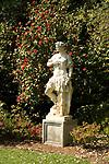 Statue in gardens at Huntington Gardens in Pasadena, CA