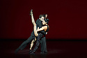"London, UK. 28.06.2014. PLAYLIST is a compilation of a number of taster pieces, in one bill, as part of Sadler's Sampled, the two week festival at Sadler's Wells.  The piece shown is tango duet ""A Los Amigos"", featuring German Cornejo and Gisela Galeassi. Photograph © Jane Hobson."