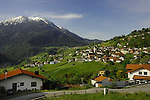 Wenns town and meadows, Imst district,Tyrol, Austria.