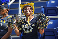 Annapolis, MD - September 9, 2016: Fan celebrating during game between UConn and Navy at  Navy-Marine Corps Memorial Stadium in Annapolis, MD. September 9, 2016.  (Photo by Elliott Brown/Media Images International)