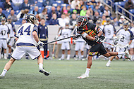 Annapolis, MD - February 11, 2017: Maryland Terrapins Isaiah Davis-Allen (26) attempts a shot during game between Maryland vs Navy at  Navy-Marine Corps Memorial Stadium in Annapolis, MD.   (Photo by Elliott Brown/Media Images International)