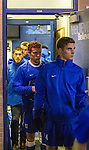 The UK men's soccer team exits the locker room with a look of grim determination on their faces after halftime during Thursday night's game against Xavier University.