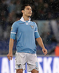 Calcio, Serie A: Lazio vs Roma. Roma, stadio Olimpico, 11 novembre 2012..Lazio midfielder Hernanes, of Brazil, reacts during the Italian Serie A football match between Lazio and AS Roma, at Rome's Olympic stadium, 11 November 2012..UPDATE IMAGES PRESS/Riccardo De Luca