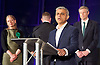 Mayor of London and London Assembly results announcement at City Hall, London, Great Britain <br /> 6th May 2016 <br /> <br /> <br /> Sian Berry - Green Party <br /> <br /> Paul Golding - Britain First <br /> <br /> Zac Goldsmith - Conservative<br /> <br /> <br /> <br /> Sadiq Khan - Labour <br /> <br /> <br /> <br /> The winner was Sadiq Khan who is appointed the new mayor of London <br /> <br /> <br /> <br /> Photograph by Elliott Franks <br /> Image licensed to Elliott Franks Photography Services
