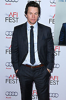 HOLLYWOOD, LOS ANGELES, CA, USA - NOVEMBER 10: Mark Wahlberg arrives at the AFI FEST 2014 - 'The Gambler' Gala Screening held at the Dolby Theatre on November 10, 2014 in Hollywood, Los Angeles, California, United States. (Photo by Xavier Collin/Celebrity Monitor)