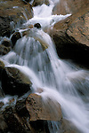 Rocks and waterfall on Cheyenne Creek, Pike National Forest, Colorado