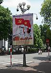 Hanoi, Vietnam, Socialist government propaganda posters line the streets. photo taken July 2008.