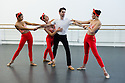 London, UK. 23.04.2015. New English Ballet Theatre rehearses in the studio at Rambert, for their forthcoming production. The piece being rehearsed is MAD WOMEN, choreographed by Valentino Zucchetti. The company dancers are: Hayley Jean Blackburn, Abigail Mattox, <br /> Alexandra Cameron-Martin, Emma Lucibello, Arianna Marchiori, Chlo&eacute; Lopes Gomes, Chantelle Gotobed, <br /> Ivan Delgado del Rio, Niklas Blomqvist, Matthieu<br /> Quincy, <br /> Silas Stubbs, Gy&ouml;rgy Ba&aacute;n, Paul Oliver, Jason Inniss, Photograph &copy; Jane Hobson.