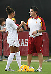 09 December 2007: USC's Lauren Brown (6) and head coach Ali Khosroshahin. The University of Southern California Trojans defeated the Florida State University Seminoles 2-0 at the Aggie Soccer Stadium in College Station, Texas in the NCAA Division I Womens College Cup championship game.