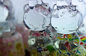February 8th, 2012 : Tokyo, Japan &ndash; Hello Kitty shaped bottles are displayed for The 73rd Tokyo International Gift show 2012 at Tokyo Big Sight. There are over 3 million items including gift products and everyday goods. 2500 exhibitors showcase their unique products. This exhibition is held from February 8 to 10. (Photo by Yumeto Yamazaki/AFLO).