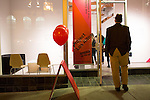 A guest walks into one of SFMOMA's Project Los Altos installation venues at 359 State St. in Los Altos on Nov. 9.