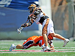 23 August 2008: The Rochester Rattlers Midfielder Alex Smith in action against the Philadelphia Barrage during the Semi-Finals of the Major League Lacrosse Championship Weekend at Harvard Stadium in Boston, MA. The Rattlers defeated the Barrage 16-15 in sudden death overtime, advancing to the upcoming Championship Game...Mandatory Photo Credit: Ed Wolfstein Photo