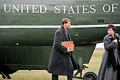 Richard Cordray, Director, Consumer Financial Protection Bureau, left, and Valerie B. Jarrett, Senior Advisor to United States President Barack Obama depart Marine One after arriving on the South Lawn of the White House in Washington, D.C. following a quick trip to Cleveland, Ohio to discuss the economy..Credit: Ron Sachs / Pool via CNP