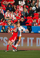 07 May 2011: Houston Dynamo defender Andre Hainault #31 and Toronto FC forward Nick Soolsma #18 in action during an MLS game between the Houston Dynamo and the Toronto FC at BMO Field in Toronto, Ontario..Toronto FC won 2-1.