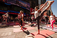 Summer Solstice Yoga in Times Square 2014